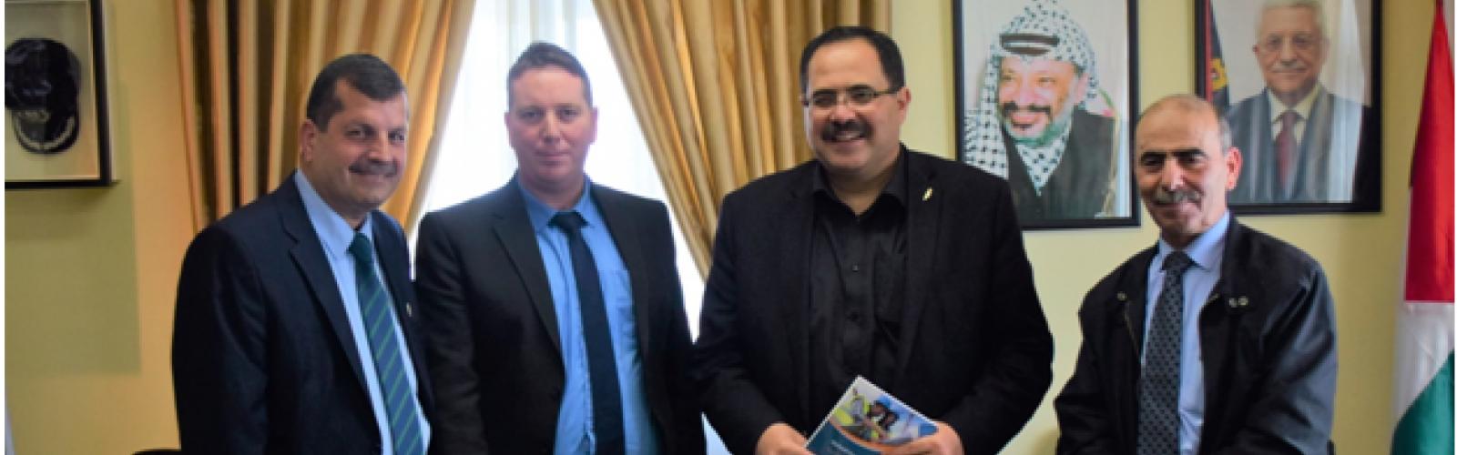 Palestine Polytechnic University (PPU) - وزير التربية والتعليم العالي يدعو للارتقاء بالسلامة والصحة المدرسية بالتعاون مع المركز الوطني الفلسطيني للسلامة والصحة المهنية وحماية البيئة في جامعة بوليتكنك فلسطين