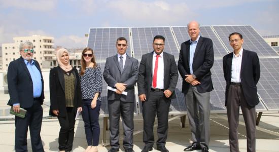 Palestine Polytechnic University (PPU) - جامعة بوليتكنك فلسطين تستقبل وفداً مشتركاً من شركة AECOM العالمية ومشروع الطاقة الفلسطيني