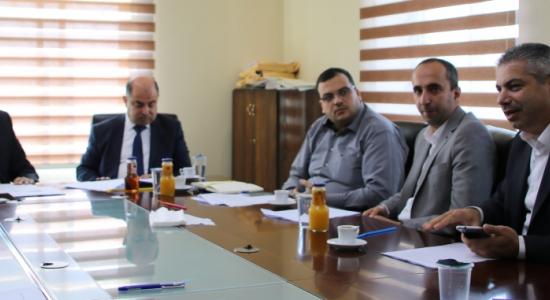 Palestine Polytechnic University (PPU) - إجتماع مجلس إدارة مركز تطوير منتجات الأحذية والجلود في جامعة بوليتكنك فلسطين