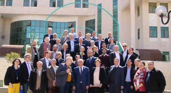 Palestine Polytechnic University (PPU) - Twenty German University Presidents and Representatives of the German Academic Exchange Service ( DAAD) make a visit to Palestine Polytechnic University