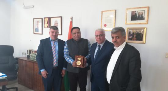 Palestine Polytechnic University (PPU) - A Delegation from Palestine Polytechnic University visit the Indian Representation in Ramallah