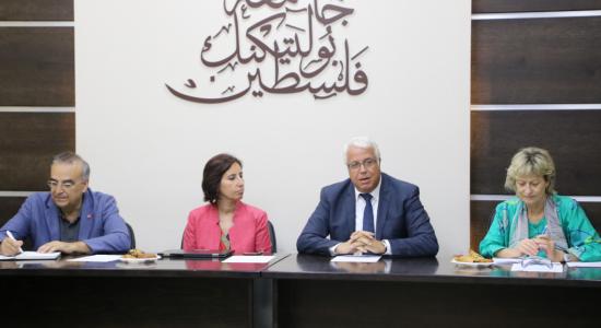 Palestine Polytechnic University (PPU) - Palestine Polytechnic University receives a delegation from the World Bank