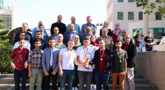 Palestine Polytechnic University (PPU) - Palestine Polytechnic University team wins first places and receives the National Programming Competition Trophy