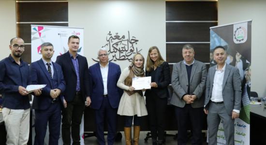 Palestine Polytechnic University (PPU) - الأكاديمية العربية الألمانية وجامعة بوليتكنك فلسطين وجامعة هيلموت شميدت الألمانية يختتمون ورشة تدريبية في مجال المختبرات المفتوحة لتصميم وتصنيع النماذج في فلسطين