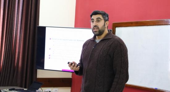 Palestine Polytechnic University (PPU) - Palestine Polytechnic University hosts Prof. and researcher Nasser Abu Khdair from the University of Waterloo, Canada
