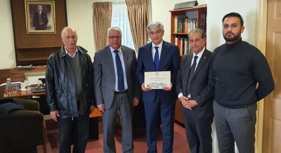 Palestine Polytechnic University (PPU) - The President of Palestine Polytechnic University visiting the Turkish Ambassador to Jerusalem