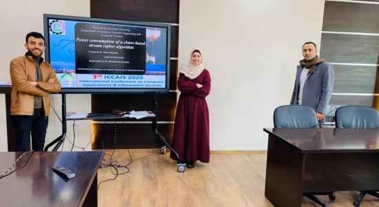 Palestine Polytechnic University (PPU) - جامعة بوليتكنك فلسطين تشارك في المؤتمر الدولي الثالث في الحاسوب وامن المعلومات ICCAIS 2020
