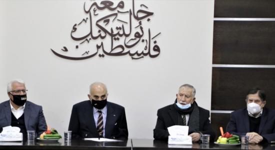 """Palestine Polytechnic University (PPU) - جامعة بوليتكنك فلسطين تستضيف رجل الأعمال الفلسطيني """"منيب المصري"""""""