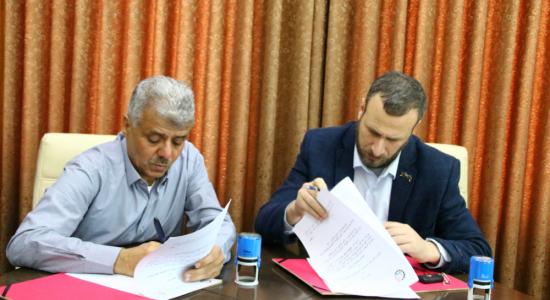 """Palestine Polytechnic University (PPU) - """"البوليتكنك"""" توقّع اتفاقية تعاون مع جمعية بيت لحم العربية للتأهيل"""